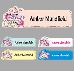 Butterflies Themed Personalised Name Labels